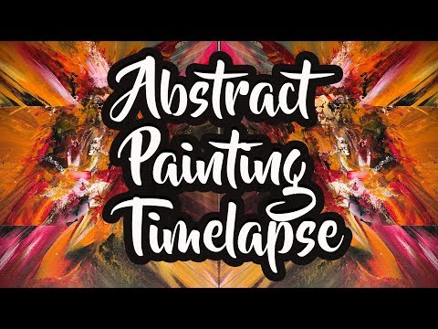 Acrylic Painting Time lapse | Raging Fire | Abstract Art Sarah Poulton