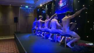 Male strippers get naked to Maroon 5's Moves Like Jagger at Magic Mike premiere