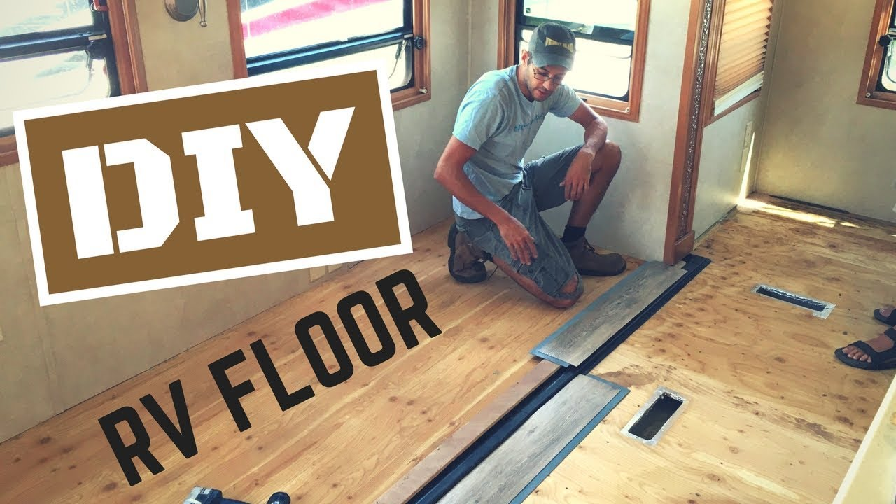 Diy rv reflooring with a flush slide out