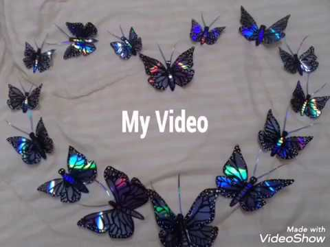 DVD Recycled Butterfly Tutorial / DVD Recycling craft /How to recycle an old DVD in to a Butterfly