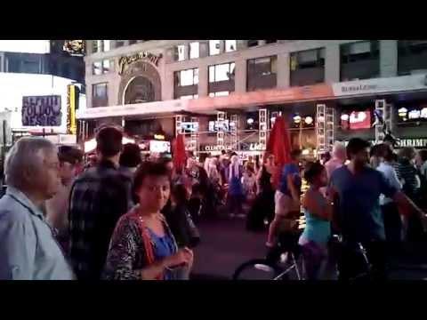 NYC Times Square VEGAN Superheros (Broadway Hollywood LasVegas LosAngeles California Disney Map 911