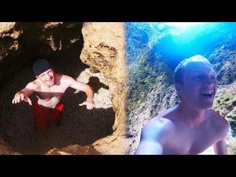 FINDING SECRET UNDERWATER CAVES! *INSANE*