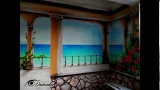 Роспись стен на кухне Терраса с видом на море(Нестандартный декор стен, потолков, реставрация мебели с помощью художественных приёмов и современных..., 2014-03-18T19:23:56.000Z)