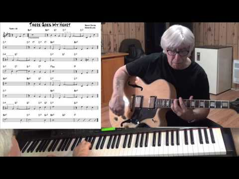 There Goes My Heart - Jazz guitar & piano cover ( Benny Davies & Abner Silver )
