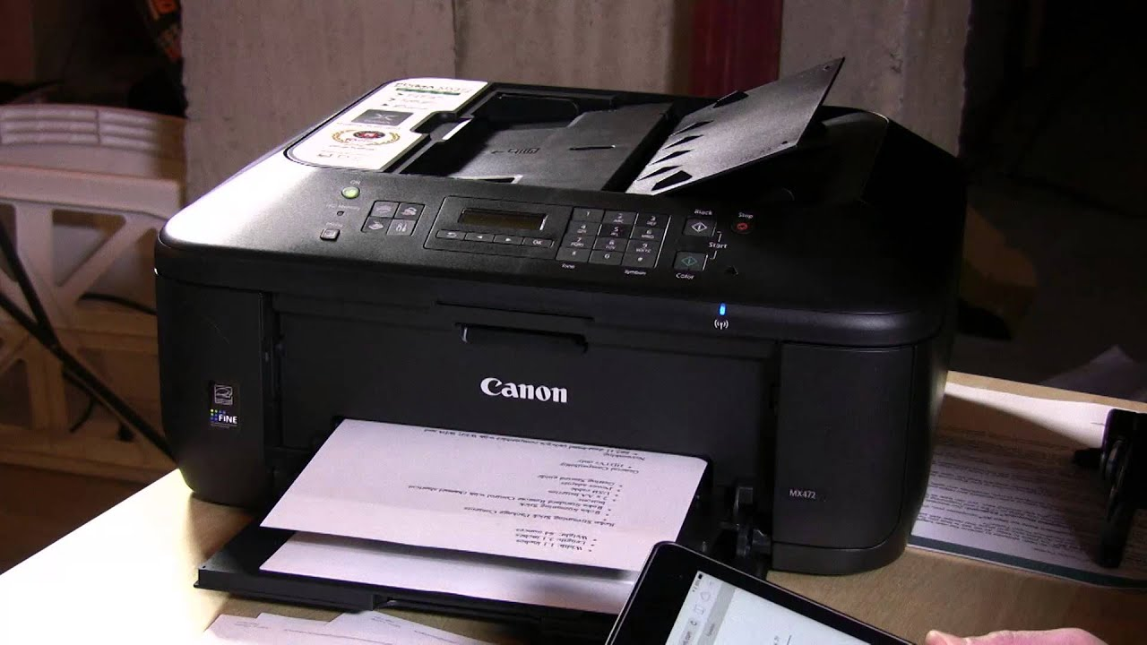 canon mx472 wireless office all in one printer review youtube. Black Bedroom Furniture Sets. Home Design Ideas