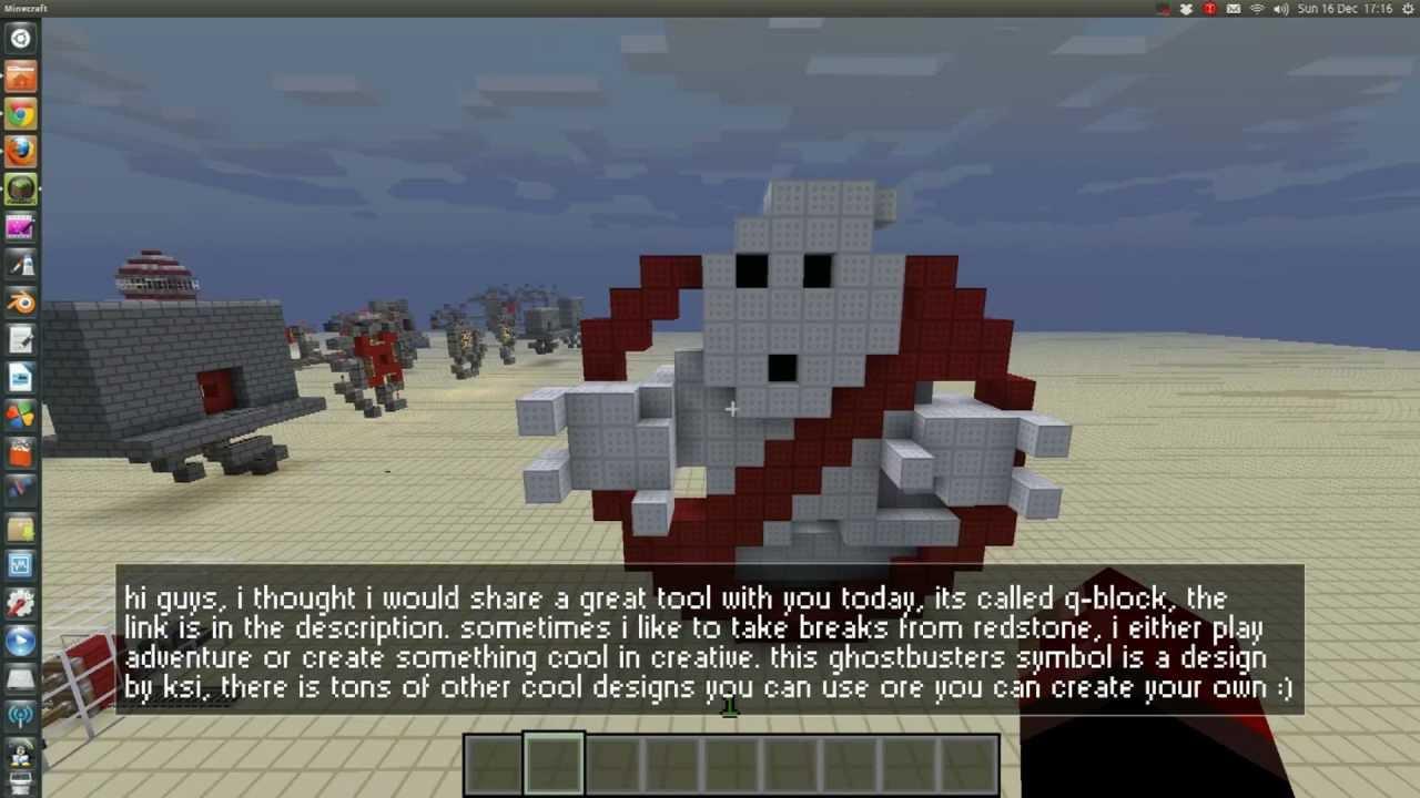 Cool minecraft tools q block 3d sculpture creator plan for Minecraft 3d blueprint maker