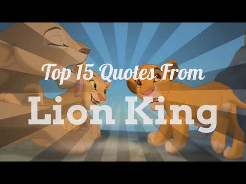 15 Best Lion King Quotes