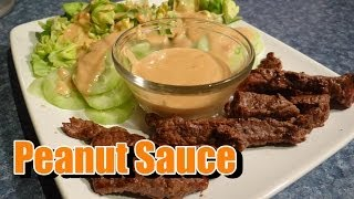 How To Make Peanut Sauce (spicy Coconut) For Satay Or Anything - Recipe - Thai