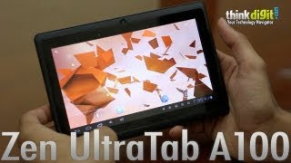 zen ultratab a100 video review