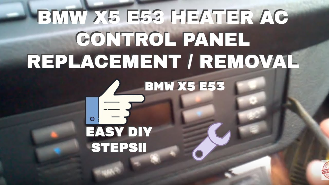 Bmw Heating And Air Conditioning Control Panel Removal