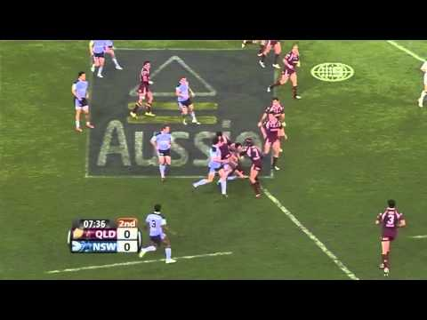 WILLIE TONGA Brut Big Hit on Trent Waterhouse!!! Origin 2009
