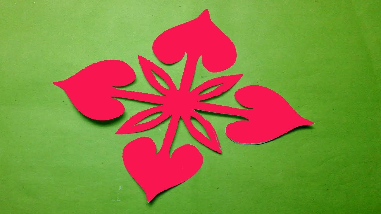 how to make easy simple paper cutting flower paper cutting design kirigami tutorials youtube
