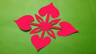 How to make Easy & Simple paper cutting Flower ? Paper Cutting Design-Kirigami Tutorials.