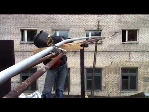 Прокладка трубы 32 мм с изоляцией для очистных сооружений Компания ИскРос