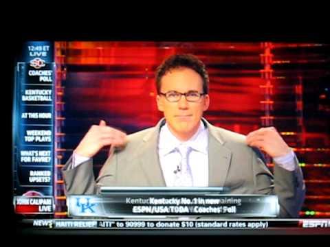 John Calipari yells at John Buccigross on SportsCenter