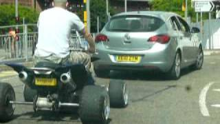 quad bike Basingstoke road ,Reading town centre