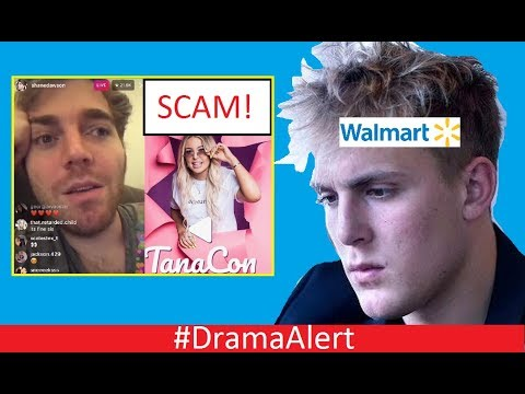 Jake Paul ROASTED by Walmart! #DramaAlert Shane Dawson vs TanaCon! Scam Exposed by Police!