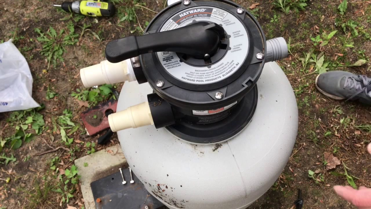 How To Remove a    Swimming       Pool    Sand Filter Valve  YouTube