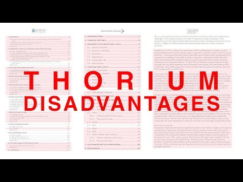 Thorium Disadvantages