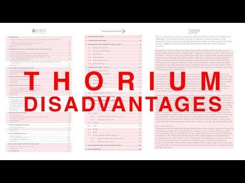 Thorium Disadvantages