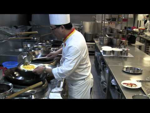 Cooking at The Eight at Grand Lisboa Hotel in Macau