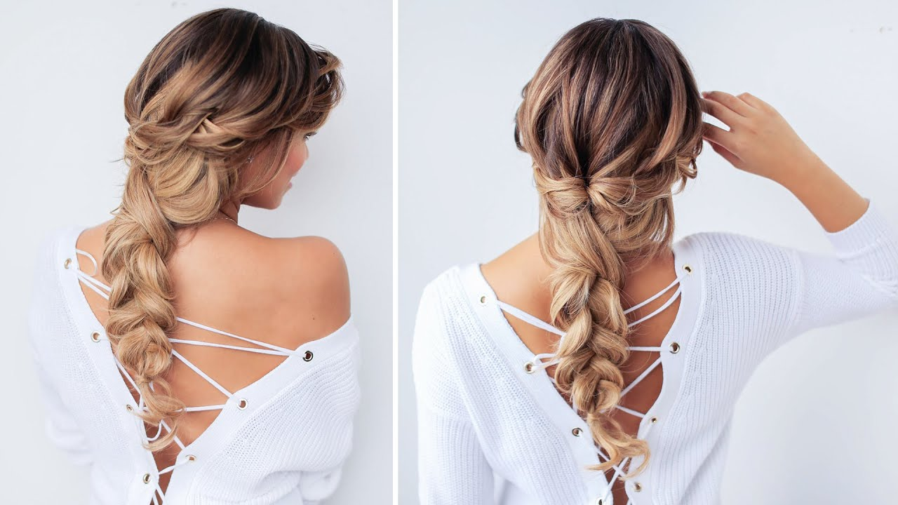 Cute & Messy Braid | Luxy Hair - YouTube
