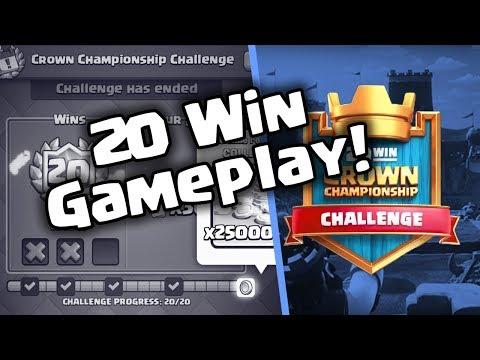 20 Win Crown Championship Challenge Deck! | Best Hog Deck | Clash Royale