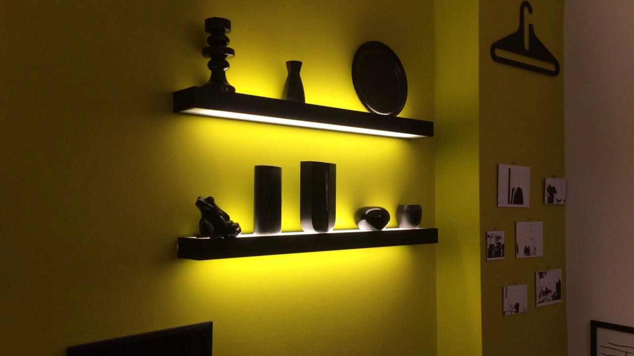 beleuchtetes regal youtube. Black Bedroom Furniture Sets. Home Design Ideas