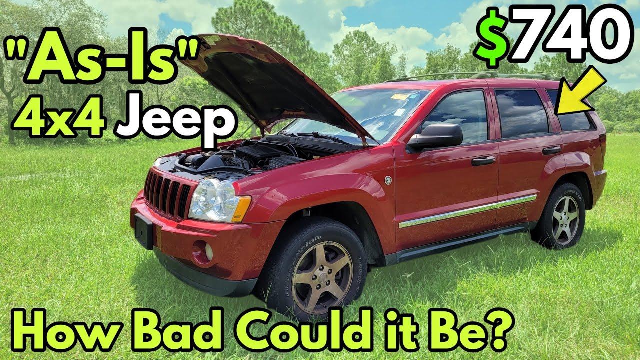 """How Bad is a $740 """"AS-IS"""" Jeep 4x4 that I Bought at the Local Auction?"""