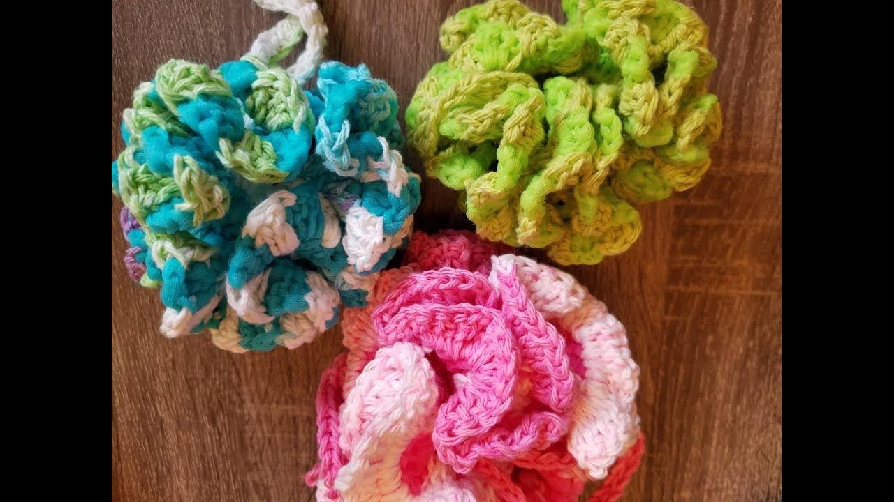 Easy Crochet Bath Pouf Youtube