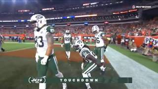 Isaiah Crowell Unsportsmanlike Conduct Penalty After Touchdown | Jets vs. Browns | NFL