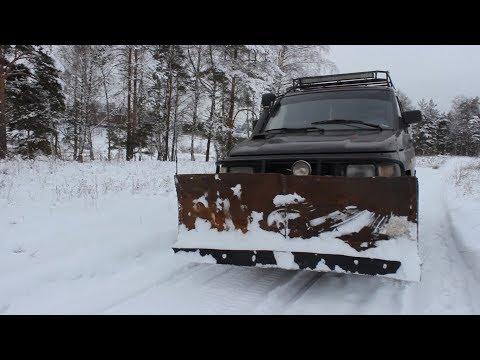 Отвал своими руками на УАЗ/Чистим снег УАЗом