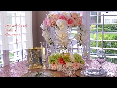 diy-tall-tower-crystal-wedding-centerpiece|-dollar-tree