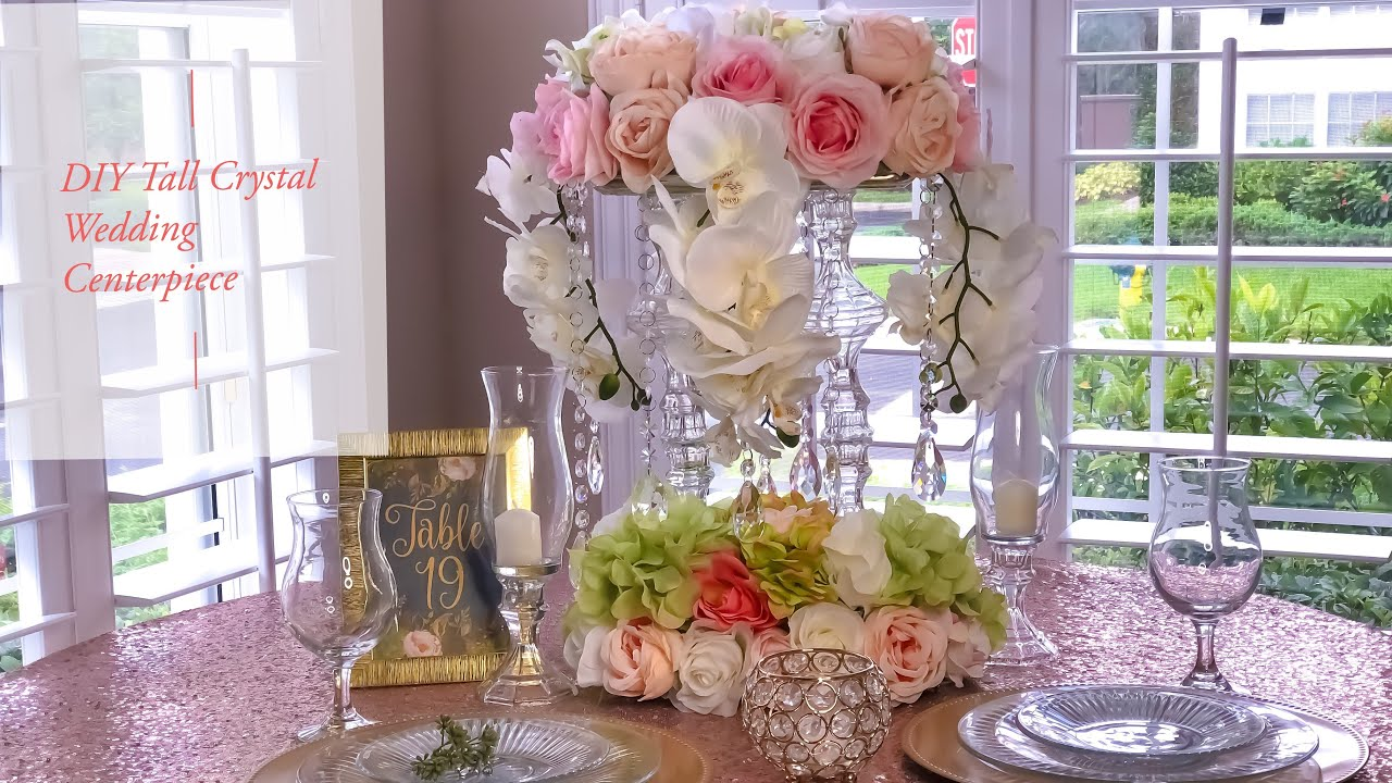 Diy Tall Tower Crystal Wedding Centerpiece Dollar Tree