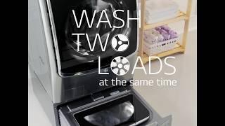 LG Twin Wash Washing Machine - Wash Two Loads Simultaneously