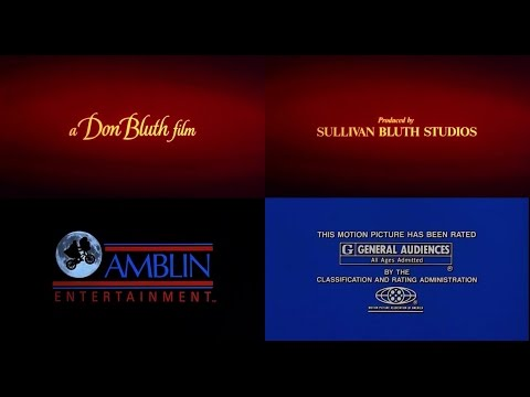 A Don Bluth Film/Sullivan Bluth Studios/Amblin Ent./MPAA Rated G [Closing] (UltraViolet, 1988)