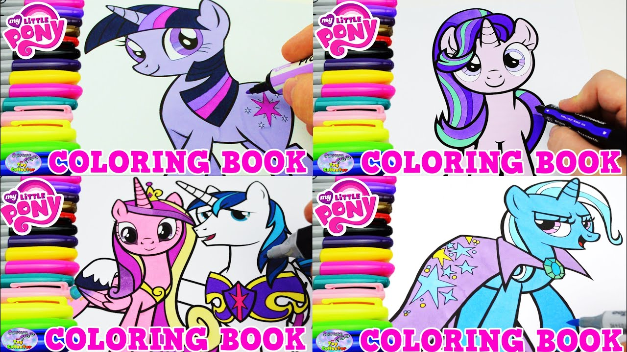 My Little Pony Coloring Book Compilation Cadance Twilight Trixie Surprise Egg And Toy Collector SETC