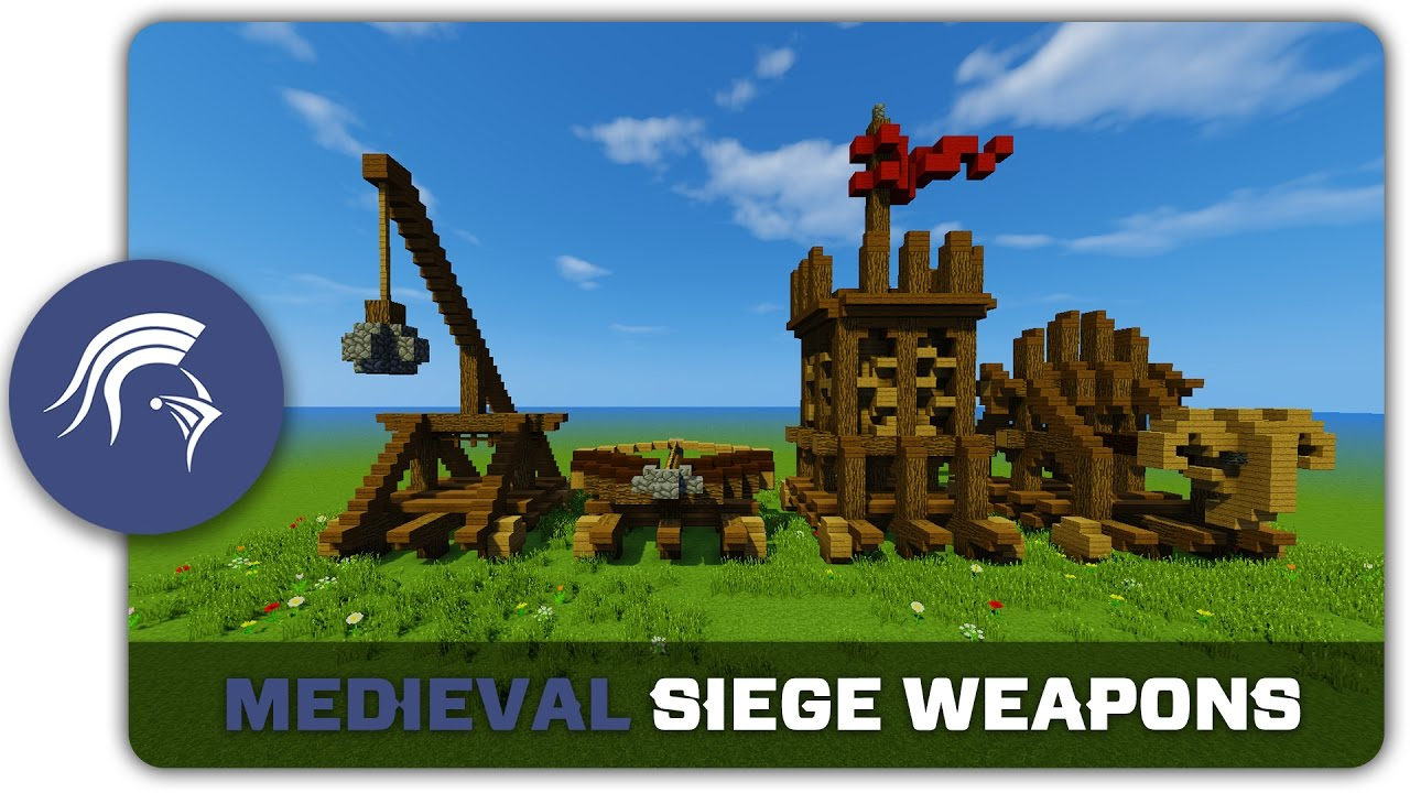 Minecraft Building Tutorial How To Build Medieval Siege Weapons