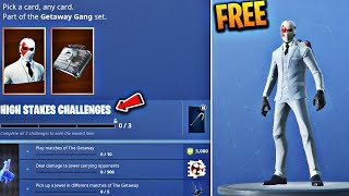 NEW 'Wild Card' Skin for FREE in Fortnite! High Stakes Event Challenges! (High Stakes Challenges)