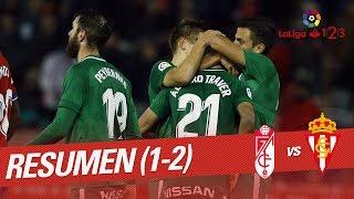 Resumen de Granada CF vs Real Sporting (1-2)