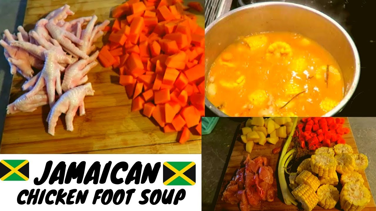 jamaican chicken foot soup  easiest way how to make it