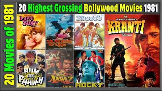 Top 20 Bollywood Movies Of 1981   Hit or Flop   With Box Office Collection   Best Indian films 1981