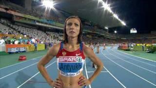 Natalya Antyukh wins 400m Hurdles in  European Athletics Championships 2010