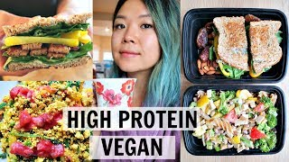 WHAT I ATE IN A DAY (ON THE GO, BUSY vegan) // HIGH PROTEIN