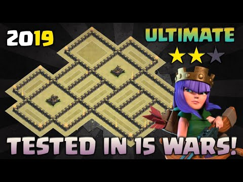 Town Hall 9 War Base | TESTED IN 15 WARS! (ANTi-LavaLoon, GoHo, Witch Slap, GoVaHo, Queen-Walk) 2019