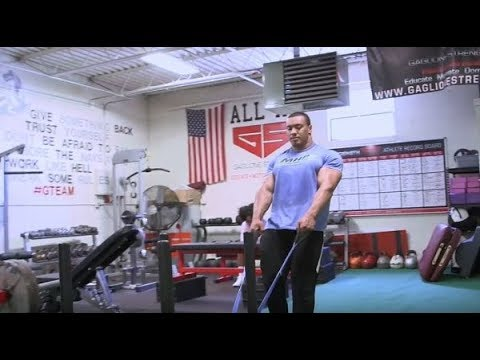 Larry Wheels Off Season Training at Gaglione Strength