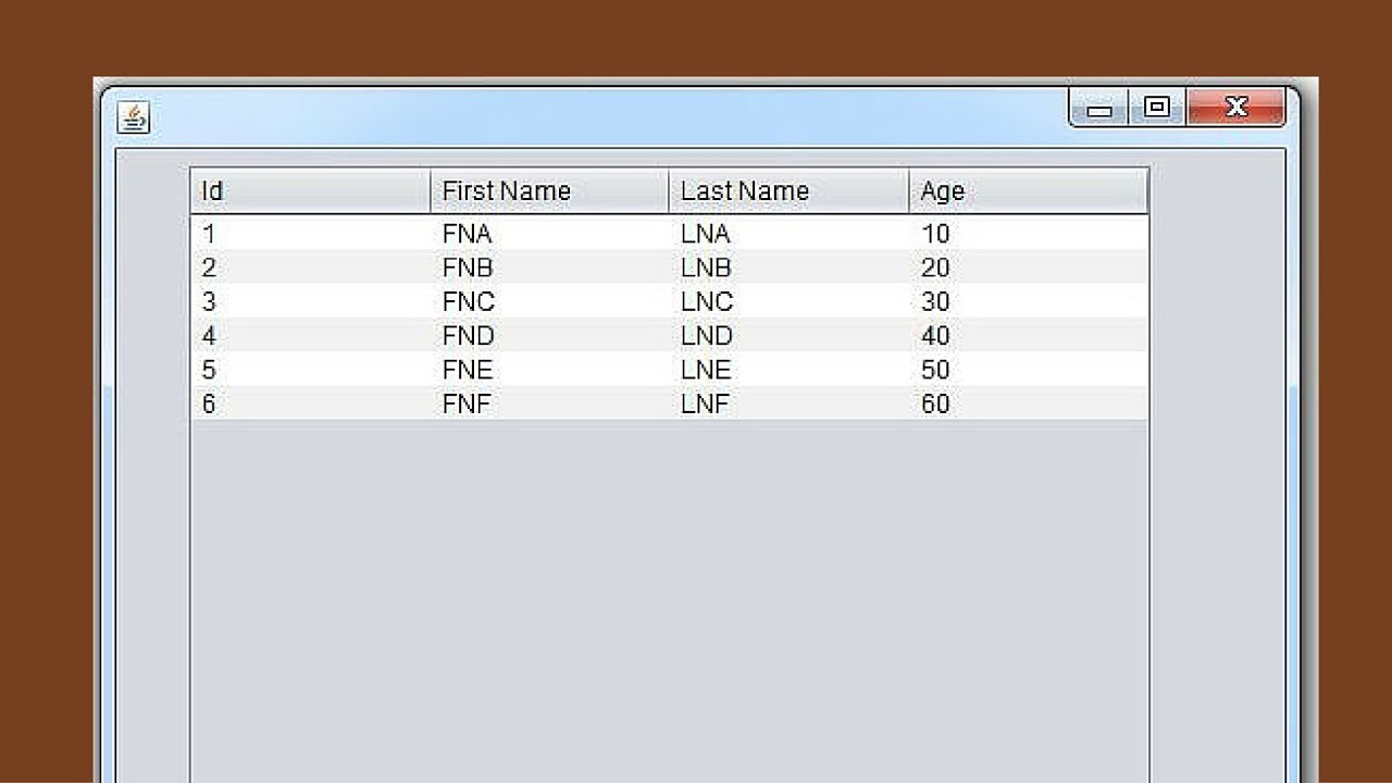 Java tutorial how to populate jtable from arraylist in java java tutorial how to populate jtable from arraylist in java using netbeans with source code baditri Choice Image
