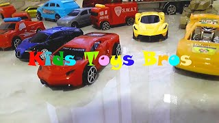 Pulling Cars Trucks Tanks Out Of The Water - Kids Toys Bros