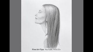 How to Draw Straight Hair - Very Easy Way - Narrated
