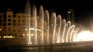 Burj Dubai Fountains at Dubai Mall
